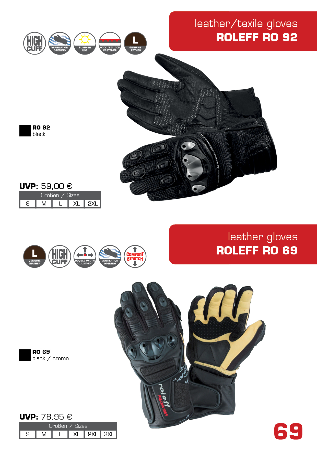 Motorcycle gloves double cuff - Motorcycle Gloves